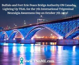 Buffalo and Fort Erie Peace Bridge ON Canada_LightUpTeal4TN_TNnME