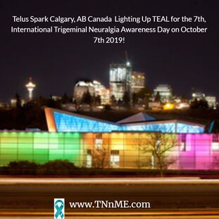 Telus Spark Calgary, AB Canada Light Up Teal 4 TN TNnME