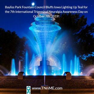 Bayliss Park Fountain Council Bluffs Iowa_LightUpTeal4TN_TNnME