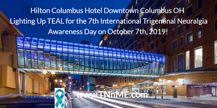 The Hilton Columbus Downtown Hotel OH Light Up Teal 4 TN TNnME