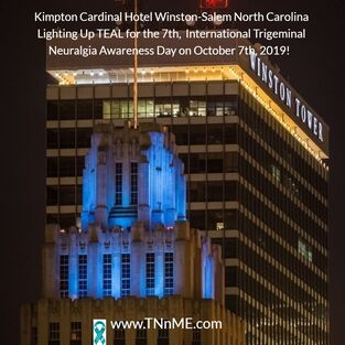 Kimpton Cardinal Hotel Winston-Salem North Carolina_LightUpTeal4TN_TNnME