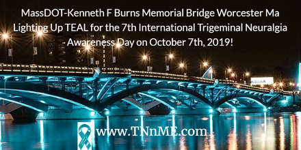 MassDOT-Kenneth F Burns Memorial Bridge Worcester Ma_LightUpTeal4TN_TNnME