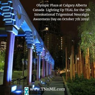 Olympic Plaza at Calgary, Alberta Canada_LightUpTeal4TN_TNnME