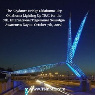 SkyDance Bridge Oklahoma City Oklahoma_LightUpTeal4TN_TNnME