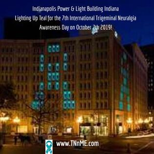 Indianapolis Power & Light Building (IPL) Indianapolis Indiana_LightUpTeal4TN_TNnME