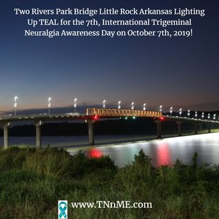 Two Rivers Bridge Little Rock Arkansas_LightUpTeal4TN_TNnME