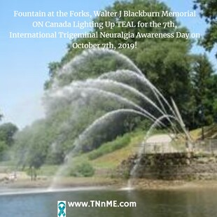 Walter J. Blackburn Memorial Fountain at the Forks ON Canada_LightUpTeal4TN_TNnME