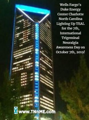 Wells Fargo's Duke Energy Center Charlotte North Carolina_LightUpTeal4TN_TNnME