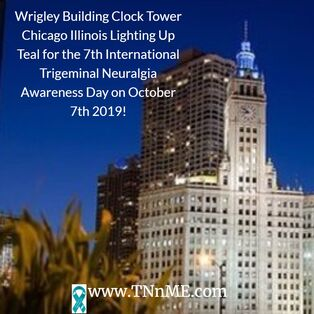 Wrigley Building Clock Tower Chicago Illinois_LightUpTeal4TN_TNnME
